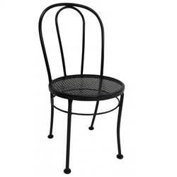 Chair, Metal Bentwood Style With Diamond Mesh Seat, Black Matte Finish, WOO200342 by Woodard.