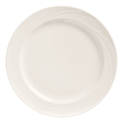 "World Tableware Basic Orbis 10 5/8"", Bright White, Medium Rim, Porcelain - BO-1103"