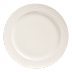 "World Tableware Basic Orbis 9"", Bright White, Medium Rim, Porcelain - BO-1107"