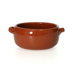 "Soup Bowl, Rustic Clay 5"" Round - Earthenware, CP052 by Yaya Imports."