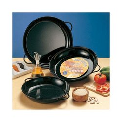 "Tapas Pan, Enameled 8"" Diameter PS220 by Yaya Imports."