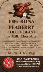 Milk Chocolate Covered Peaberry Coffee Beans