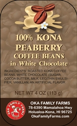 White Chocolate Covered Peaberry Coffee Beans