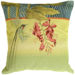 Long-Tailed Humming Bird Decorative Pillow