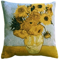 Van Gogh Sunflowers 19x19 Throw Pillow