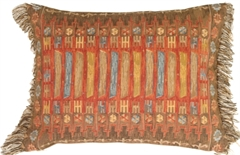 Kilim Rectangle Red Decorative Pillow