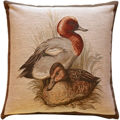 Ducks French Tapestry Throw Pillow