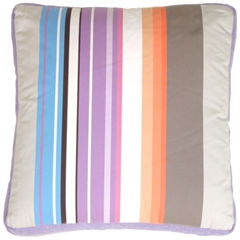 Grape & Charcoal Stripes Decorative Pillow