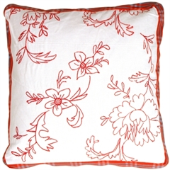 Ruby Flower Box Decorative Pillow