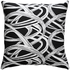 Flair 20x20 Black Throw Pillow