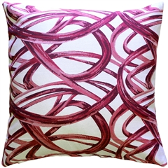 Flair 20x20 Magenta Throw Pillow