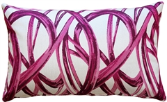 Flair 12x20 Magenta Throw Pillow