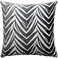Samba Gray 20x20 Throw Pillow