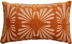 Velvet Daisy Orange 12x20 Throw Pillow