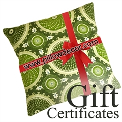 Pillow Décor Gift Certificates
