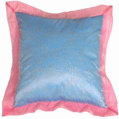 Bohemian Blue Throw Pillow