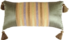 Madeira Stripes with Tassels Decorative Pillow