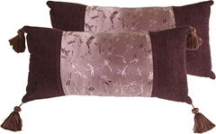 Mauve Dragonfly Decorative Pillow