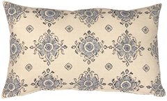 Medallion Handprint Lake 12X20 Throw Pillow