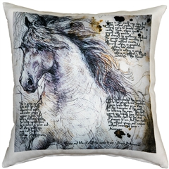The Love of Horses Stallion 17x17 Throw Pillow