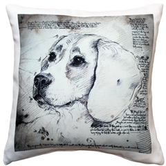 Beagle 17x17 Dog Pillow