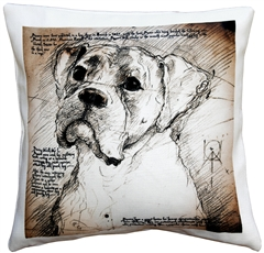 Boxer 17x17 Dog Pillow