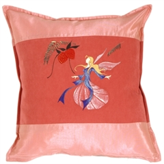 Fairy Throw Pillow Mirabelle Pink