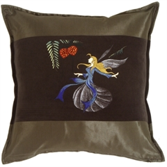 Fairy Throw Pillow Mirabelle Green