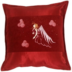 Fairy Throw Pillow Gwendolyn Burgundy