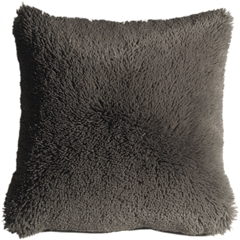Soft Plush Gray 20x20 Throw Pillow