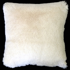 Soft Plush Cream 20x20 Throw Pillow