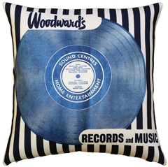 Woodward's Records and Music Throw Pillow
