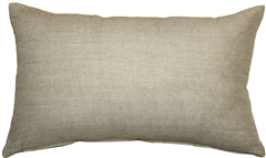 Tuscany Linen Natural 12x20 Throw Pillow