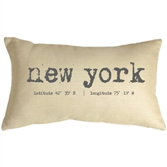 New York Coordinates 12x20 Throw Pillow