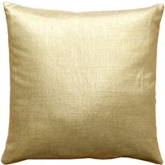 Tuscany Linen Gold Metallic 16x16 Throw Pillow