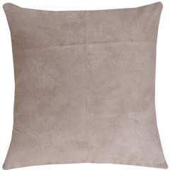 19x19 Royal Suede Silver Grey Throw Pillow