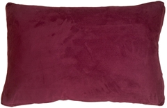 14x22 Box Edge Royal Suede Wine Throw Pillow