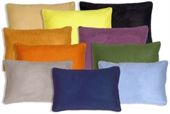 14x22 Box Edge Royal Suede Throw Pillows