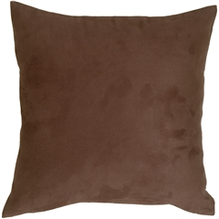 18x18 Royal Suede Brown Throw Pillow
