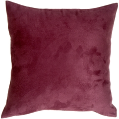 18x18 Royal Suede Wine Throw Pillow