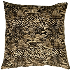 Snake Print Cotton Small Throw Pillow