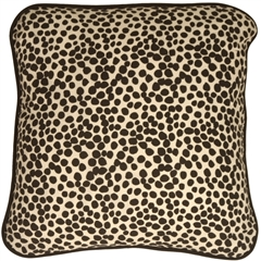 Deer Print Cotton Small Throw Pillow