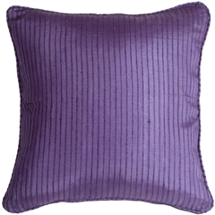 Ribbed Silk Purple 22x22 Throw Pillow