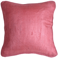 Ribbed Silk Raspberry 22x22 Throw Pillow