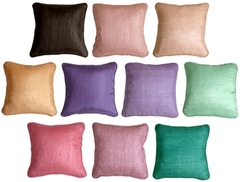 Ribbed Silk 17x17 Throw Pillows