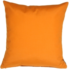Sunbrella Tangerine Orange 20x20 Outdoor Pillow