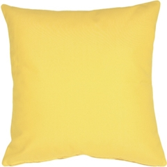 Sunbrella Buttercup Yellow 20x20 Outdoor Pillow