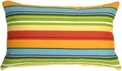 Bistro Stripes Azalea 12x20 Outdoor Pillow