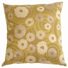 Retro Daisy Wheat Decorative Throw Pillow