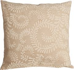 Brackendale Ferns Cream Throw Pillow